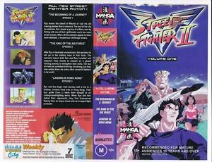 Details about STREET FIGHTER II - VOLUME 1 *RARE VHS TAPE* 1997, MANGA VIDEO