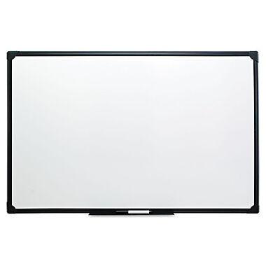 Universal Dry Erase Board Melamine 48 x 36 Black Frame