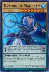 Dragonpit Magician - PEVO-EN014 - Super Rare - 1st Edition x1 - Near Mint