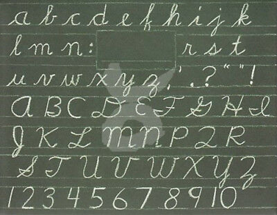 """Mappe mit Kreidetafel für DIN A6 iStockphoto Portfolio """"Schul-Tafel ABC"""""""