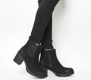 63379ef7f Image is loading Womens-Vagabond-Grace-Heeled-Chelsea-Boots-Black-Nubuck-