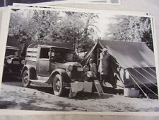 1930 ? FORD MODEL A PICK UP FRUIT PICKERS CAMP   12 X 18 LARGE PICTURE   PHOTO