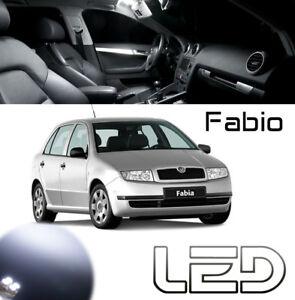 Skoda-FABIA-Ampoules-LED-Blanc-eclairage-interieur-Plafonnier-habitacle-Coffre
