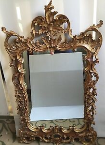 La Barge Rococo Style Italian Wood Hand Carved Gold Gilt