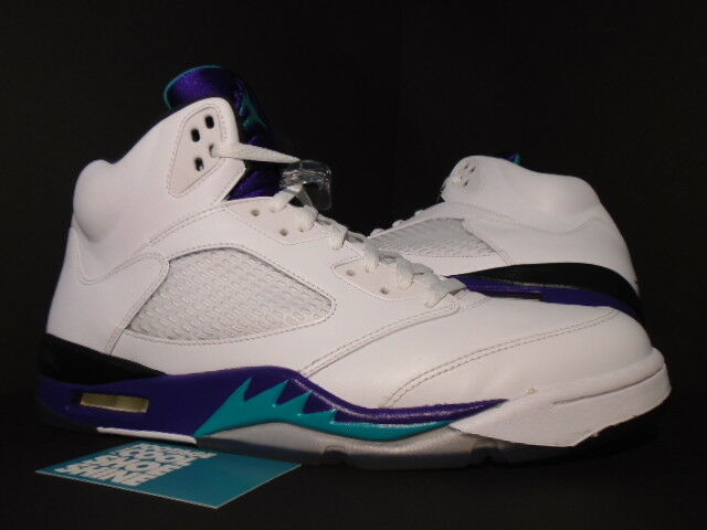 2013 Nike Air Jordan V 5 Retro Retro Retro bianca EMERALD verde GRAPE ICE nero 136027-108 13 000261