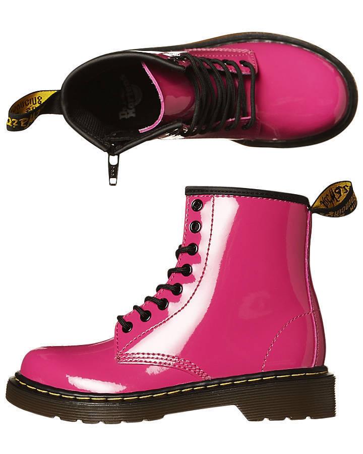 Dr Martens Niños Delaney Botas Patente Lamper color de rosa caliente -15382670 tamaño de Reino Unido