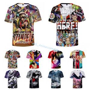 Men-Women-Anime-ONE-PIECE-STAMPEDE-3D-full-print-Casual-Short-Sleeve-Tee-T-Shirt