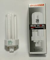 (50) Cf26dt / 841 Sylvania Dulux T/e In 26w, 4 Pin Base Fluorescent Bulbs 20882