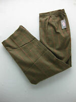 Preston & York Plaid Womens Business Beige Brown Vintage Slacks Pants Size 14