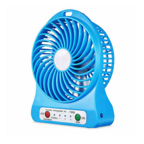 Electric Mini Handy Fan Battery Operated USB Rechargeable Portable Handheld