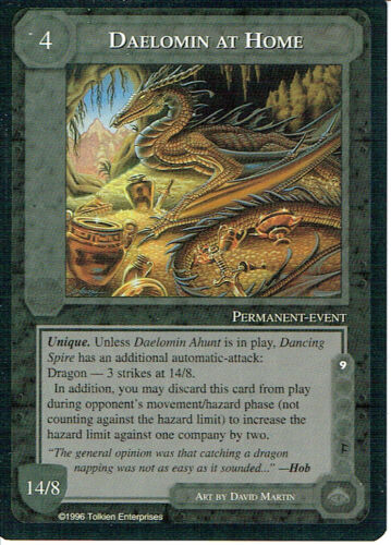 MIDDLE EARTH THE DRAGONS RARE CARD DAELOMIN AT HOME