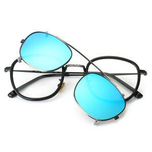 a2ba9752c76 Clip On Magnet Sunglasses Rx Metal Eyeglasses Frames Magnetic Unisex ...