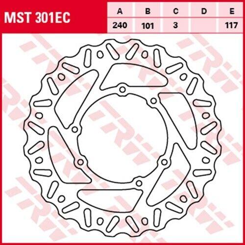Disque de frein honda crf250 R me10 Bj 2004 TRW Lucas mst301ec