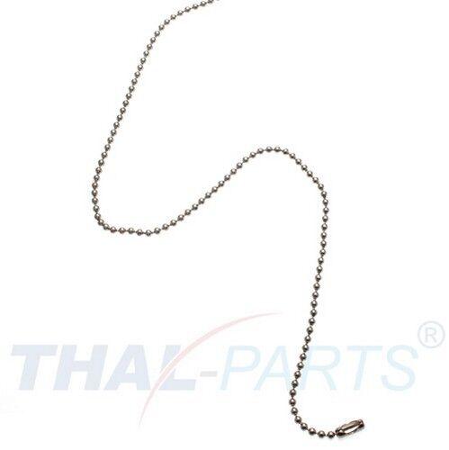 100 Stück Kugelketten 1,5mm x 102mm Silbern mit Verschluss Kugelkette Kette