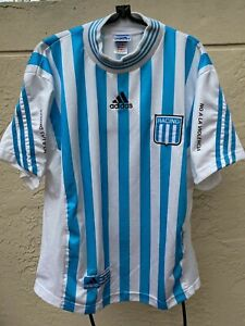 Details about RACING CLUB BUENOS AIRES ARGENTINA ADIDAS SOCCER HOME JERSEY SZ L
