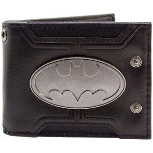 Official-Dc-Batman-badge-double-boutonne-noir-ID-amp-carte-Portefeuille-deuxieme