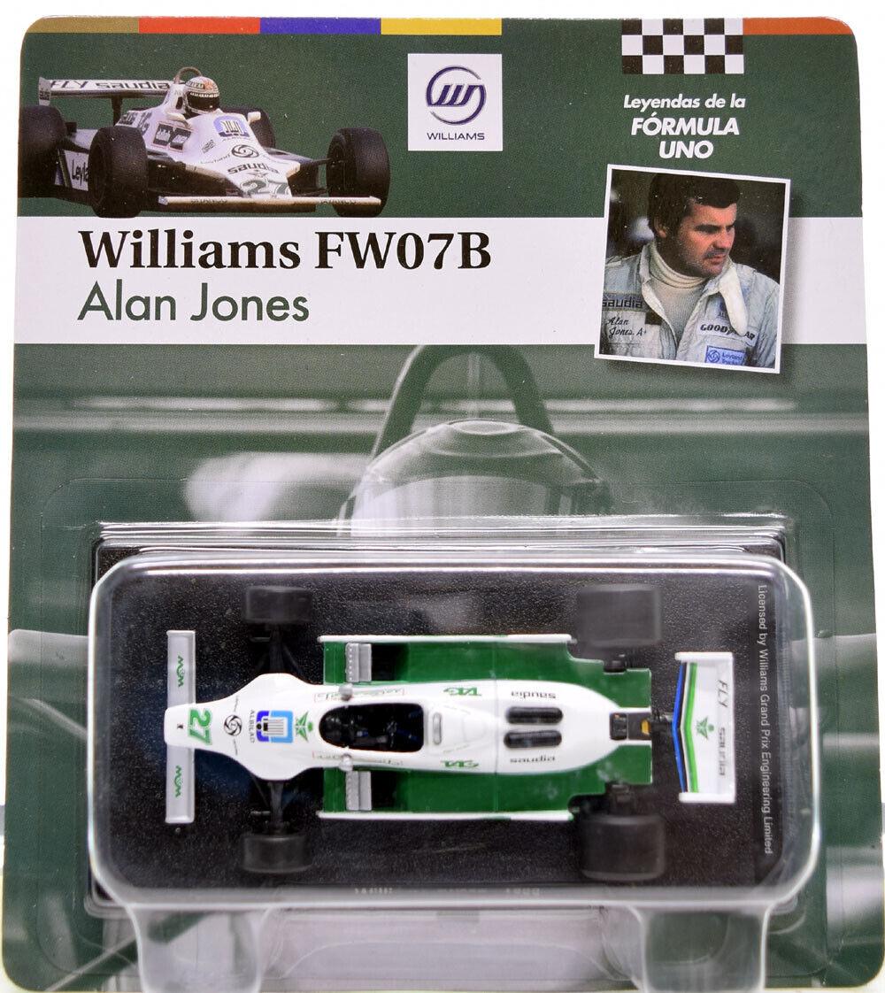 Formel 1 Williams FW07B Alan Jones 1980-1:43 Miniatur Modellauto F1 Car GL05