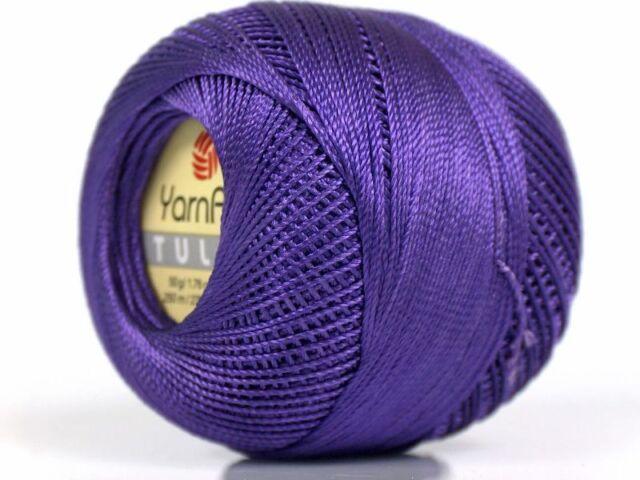 Variegated Blue Shades YarnArt Tulip Sz 10 Microfiber Thread 17329 50g 273y
