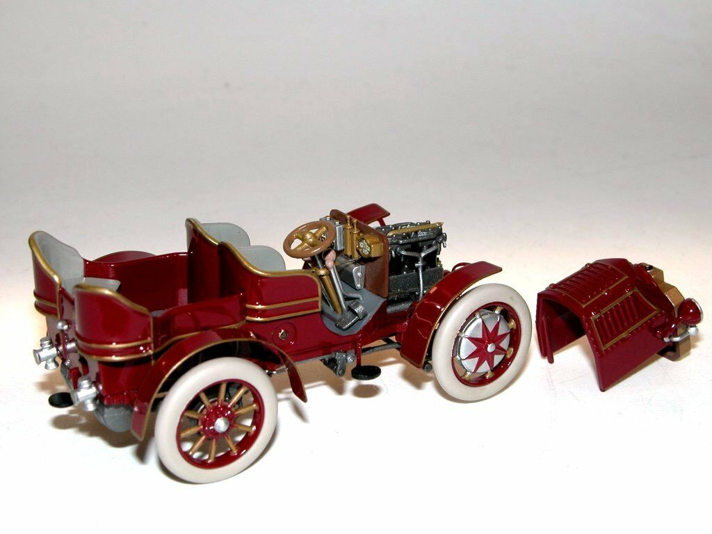 Fahrtraum, 1901 Lohner-Porsche Mixte, 4-Sitzer, red, abnehmbare Motorhaube 1 43