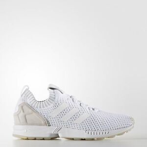 a02ace1a344f9 S75977  MEN S ADIDAS ZX FLUX PRIMEKNIT TRAINING RUNNING WHITE WHITE ...