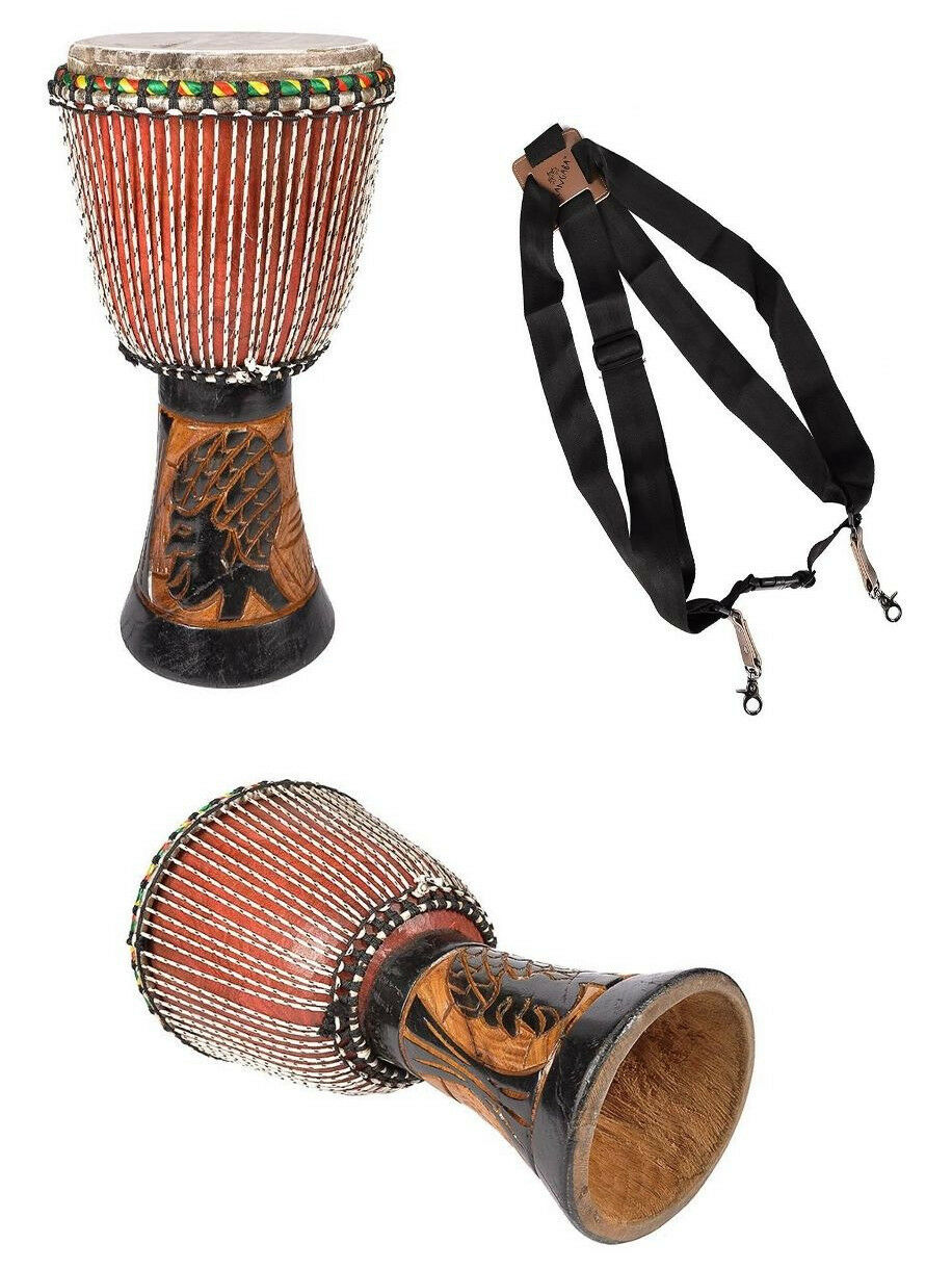 Djembe Djembes  inkl. Tragegurt  Dugura Holz Hand Percussion African Style Drum