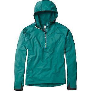 Madison Zenith men's long sleeve hooded top, oak green X-large green