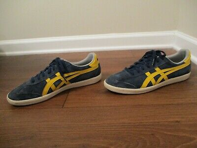 the latest 2ee9c 551e5 Used Worn Size 10 Asics Onitsuka Tiger Tokuten Shoes D3B2L Navy Yellow Gray  Sail | eBay