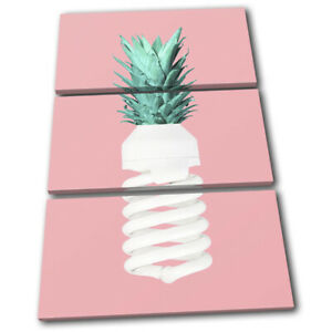 Pineapple-Light-Bulb-Food-Kitchen-TREBLE-CANVAS-WALL-ART-Picture-Print