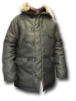 Silvermans N3b Extreme Cold Weather Parka With Hood, Green Or Black [72572]
