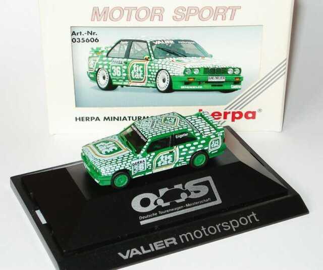 1:87 BMW M3 E30 DTM 1992 Valier Tic Tac Nr.36 Franz Engstler - herpa 035606