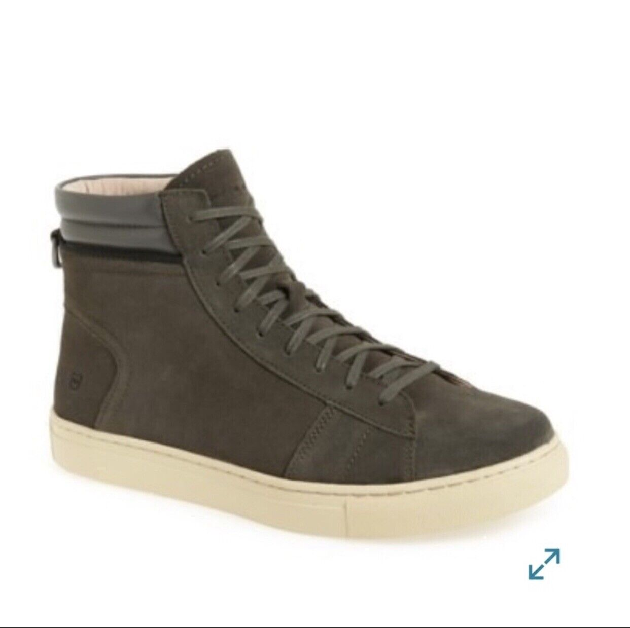 Andrew Marc Mens shoes AMREMNZS 2351 Suede Fashion Sneakers Brown Green Size 7.5