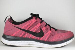detailing d13e8 2392b Details about Nike Flyknit Lunar One 1 Lunarlon Black Pink Flash size 11