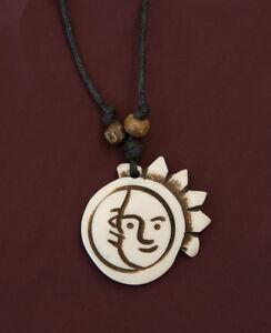 Sun Soleil Pendentifs Collier Argent Fait Main Collier Mode Charme Bijoux