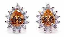 Sterling Silver Morganite And Diamond 2.98ct Stud Earrings (925)