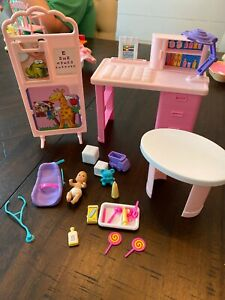 1994 Barbie Baby Care Center So Much To Do Playset ...