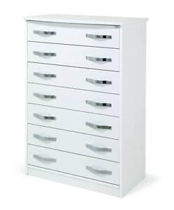 cassettiera settimino bianco moderno cameretta vari colori