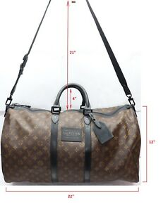 a29a1965617d Image is loading Louis-Vuitton-Monogram-Waterproof-Keepall-Bandouliere-Size -55-
