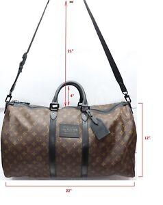 1bbcbf65fd Image is loading Louis-Vuitton-Monogram-Waterproof-Keepall -Bandouliere-Size-55-