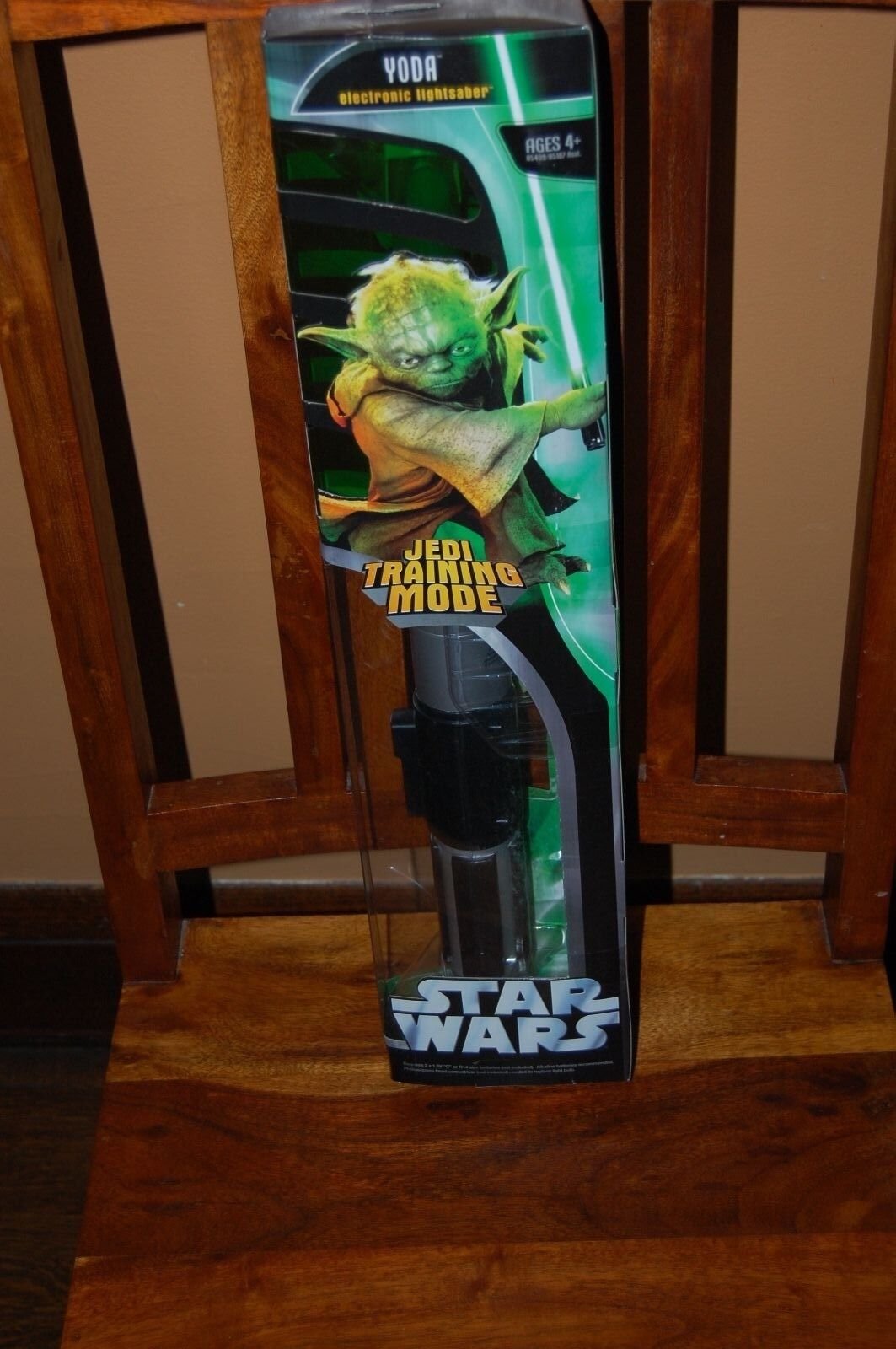 Modo de entrenamiento Yoda Jedi Lightsaber Electronic-Estrella Wars Hasbro 2005