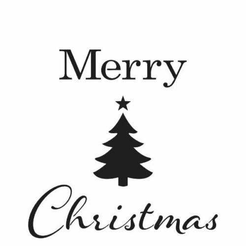 """6/"""" Stencil Merry Tree Christmas The Crafters Workshop TCW"""
