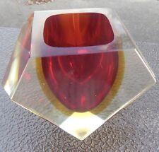 FLAVIO POLI VASE ou CENDRIER en CRISTAL sommerso glass murano
