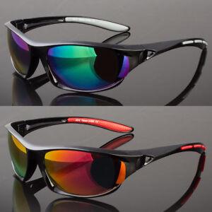 c15e9a2934 New Men Sunglasses Outdoor Sports Wrap Around Mirror Driving Eyewear ...