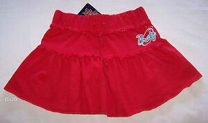Bratz-Girls-Logo-Red-Printed-Cotton-Skirt-Size-12-New