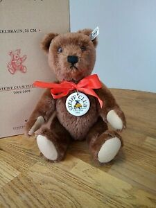 Steiff Teddy Bear 1950 Club Edition 2001 / 2002 Jointed Genuine Mohair