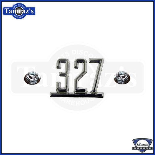 """67 Camaro 65-67 Chevy A B X Body /"""" 327 /"""" Fender Emblem"""