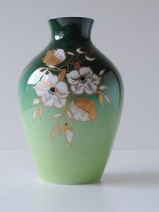 Wallendorf Porzellan Vase Handbemalt Grün Gold Ebay