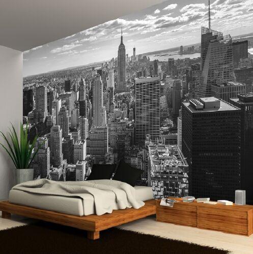 New York City Skyline Noir et Blanc PHOTO PAPIER PEINT MURAL 335X236cm énorme!