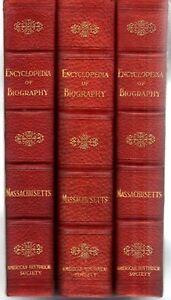 Encyclopedia-Of-Massachusetts-Biographical-Genealogical-3-Vol-Set-History-Bios