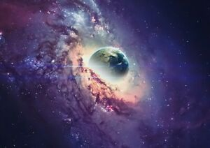 A1-Space-Stars-Earth-Universe-Fantasy-Poster-Art-Print-60x90cm-180gsm-Gift-14098