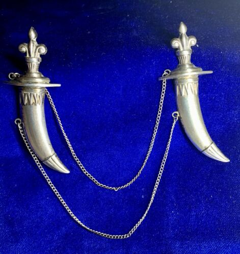 Vintage Signed Lang Sterling Silver Double Daggers